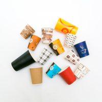 Pahare de carton colorate 4, 7, 8, 12, 16 oz