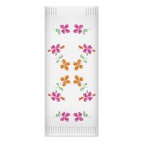 Suport tacamuri FATO alb, print flori, 2 straturi, 38 x 38 cm