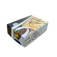 Cutii cartofi prajiti grill din carton cu aluminiu pe interior 14 x 10,5 x 48 cm, 10 kg/set