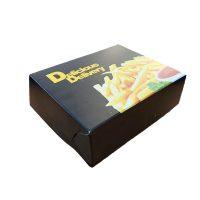 Cutii cartofi prajiti grill din carton cu aluminiu pe interior 16 x 13,5 x 6 cm, 10 kg/set